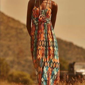 Maeve NOETZIE geometric Print Knit Maxi Dress